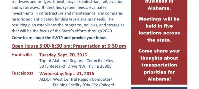 Coming Soon: ALDOT Statewide Transportation Plan